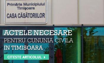 Acte cununia civila in Timisoara