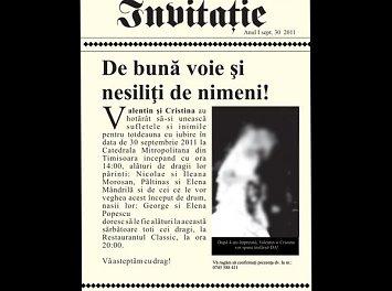 Invitatia-perfecta Nunta Timisoara