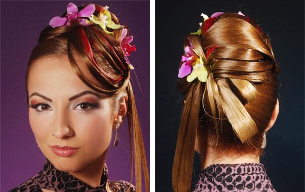 Coafura eleganta cu flori naturale Alina Milin Timisoara