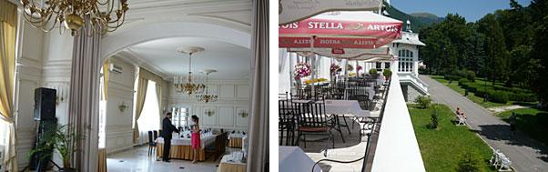 Restaurant nunta hotel Palace Sinaia interior si exterior