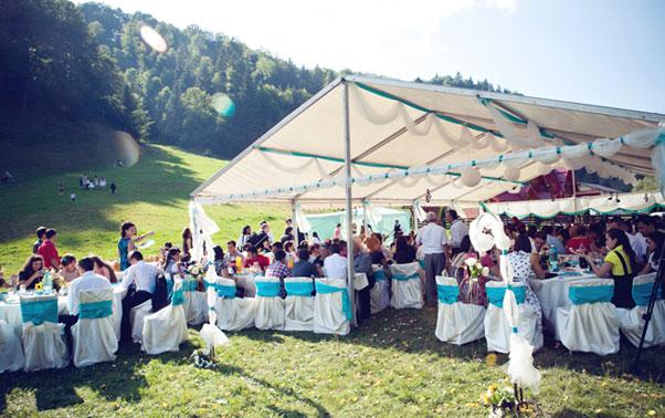 Cort nunta reala in aer liber Adina si Iosif Bucuresti